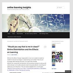 Instructor Presence Online
