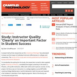 Study: Instructor Quality Clearly an Important Factor in Student Success