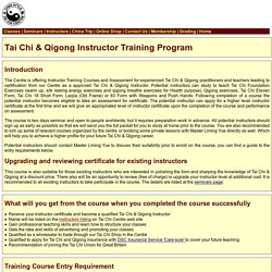 Tai Chi Instructor Training Courses