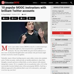 10 popular MOOC instructors with brilliant Twitter accounts