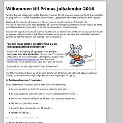 Instruktioner: Prima julkalnder 2016