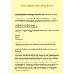 Instrument Building Zone