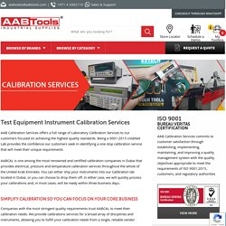 Test Equipment Instrument Calibration Services