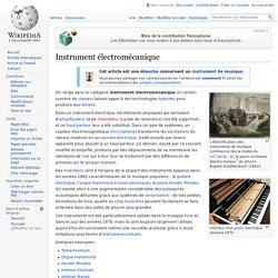 Instrument électromécanique