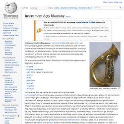 Instrument dęty blaszany