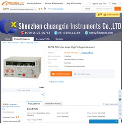 2672A 5KV hipot tester, High Voltage instrument, View 5KV High Voltage tester, CX Product Details from Shenzhen Chuangxin Instruments Co., Ltd. on Alibaba.com