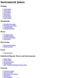 Instrument Jokes