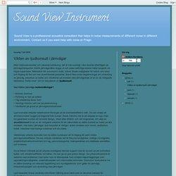 Sound View Instrument: Vikten av ljudkonsult i järnvägar