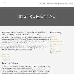 Baptist Church Pensacola Instrumental Ministry