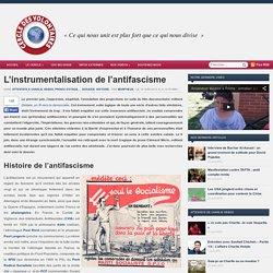 L'instrumentalisation de l'antifascisme