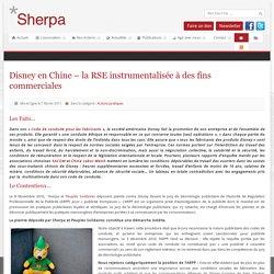 Disney en Chine – la RSE instrumentalisée à des fins commerciales - SHERPA