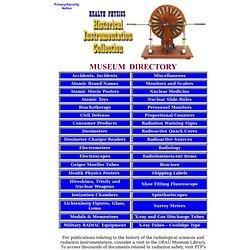 Health Physics Instrumentation Museum Directory