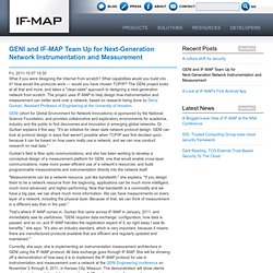 GENI and IF-MAP Network Instrumentation and Measurement | IF-MAP