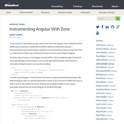 Instrumenting Angular with Zone – Wintellect DevCenter