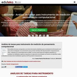 Eduteka - Análisis de tareas para instrumento de medición de pensamiento computacional