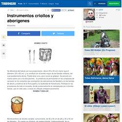 Instrumentos criollos y aborígenes - Taringa!