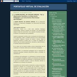 De la observación científica a la observación pedagógica. Artículo