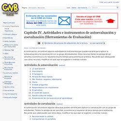 Capítulo IV. Actividades e instrumentos de autoevaluación y coevaluación (Herramientas de Evaluación) - CNB