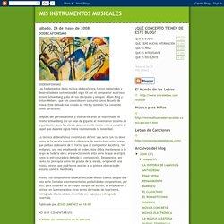 MIS INSTRUMENTOS MUSICALES: DODECAFONISMO