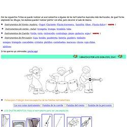 Colorear los instrumentos musicales