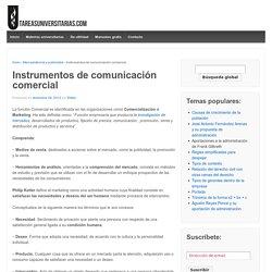 Instrumentos de comunicación comercial – Tareas Universitarias