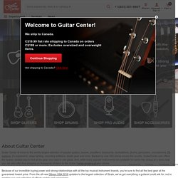 Guitars, Musical Instruments, and Musical Equipment from Guitar Center