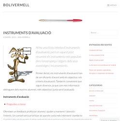 Instruments d'avaluació – bolivermell