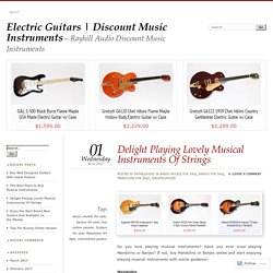 Delight Playing Lovely Musical Instruments Of Strings