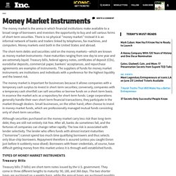 Money Market Instruments - Encyclopedia - Business Terms