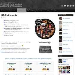 HQ Instruments – Free VST plugins : DSK Music