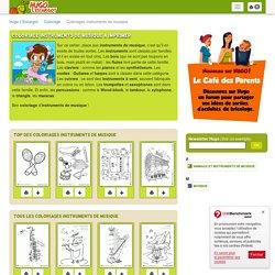 Coloriage Instruments de musique à imprimer sur Hugolescargot.com