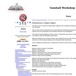 Vauxhall Workshop Manuals > Nova > N Electrical Equipment and Instruments > Wiring Harnesses > Repair Instructions > Wiring Harness, Complete, Replace