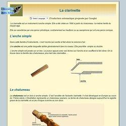 Instruments : La clarinette
