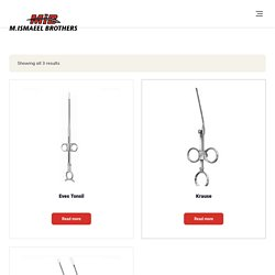 Surgical Snare & other Surgical instruments Manufactured By