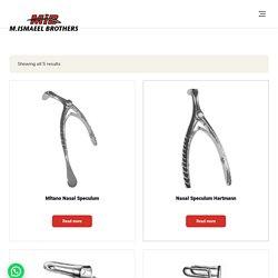 Nasal Speculum & other Instruments Manufacturer