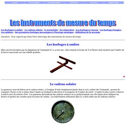 les instruments de mesure du temps