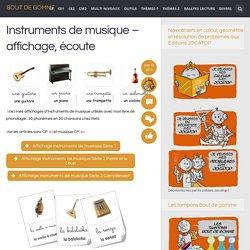 Instruments de musique – affichage, écoute