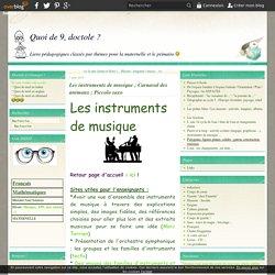 Les instruments de musique ; Carnaval des animaux ; Piccolo saxo