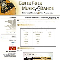 Greek Instruments ~ Greek Folk Music and Dance ~ John Pappas ~ Ioannis Pappayiorgas ~ Greek Dance Greek Music Klarino Bouzouki Greek Instruments Greek Clarinet