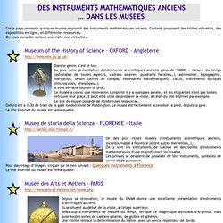 Instruments scientifiques et musées