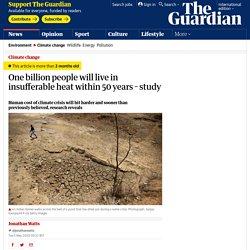 one billion people will live in insufferable heat