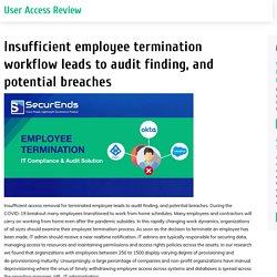 Insufficient Employee Termination Workflow