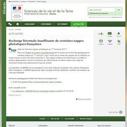 Recharge hivernale insuffisante de certaines nappes phréatiques françaises-Sciences de la vie et de la Terre-Éduscol
