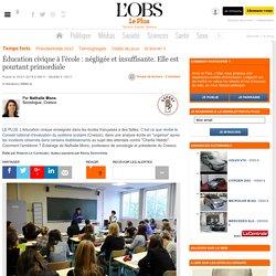 Éducation civique à l'école : négligée et insuffisante. Elle est pourtant primordiale