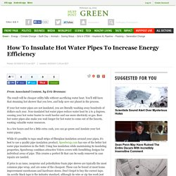 How To Insulate Hot Water Pipes To Increase Energy Efficiency
