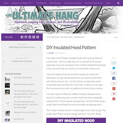 DIY Insulated Hood Pattern - The Ultimate Hang