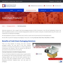 Temperature Controlled Cold Packs offered by Distinctive Solutions Inc.