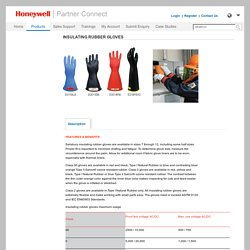 Hand Gloves, Insulating Rubber Gloves - Honeywell Partner Connect