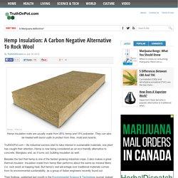 Hemp Insulation: A Carbon Negative Alternative To Rock Wool