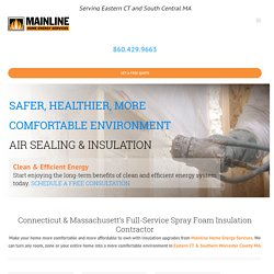 Spray Foam & Spray Foam Insulation Contractor in Ashford & Andover CT